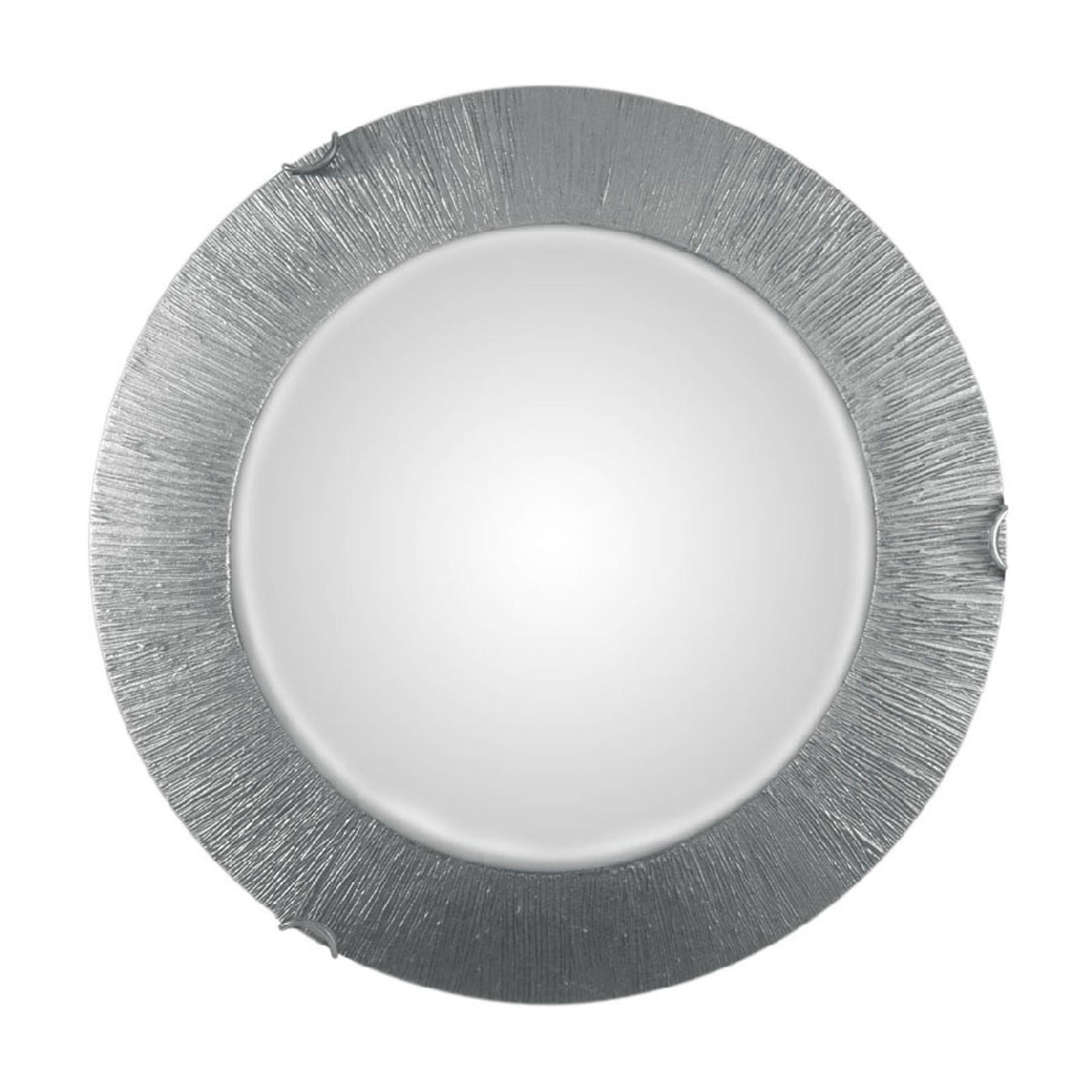 Lampa sufitowa Moon Sun, srebrna, Ø 40 cm