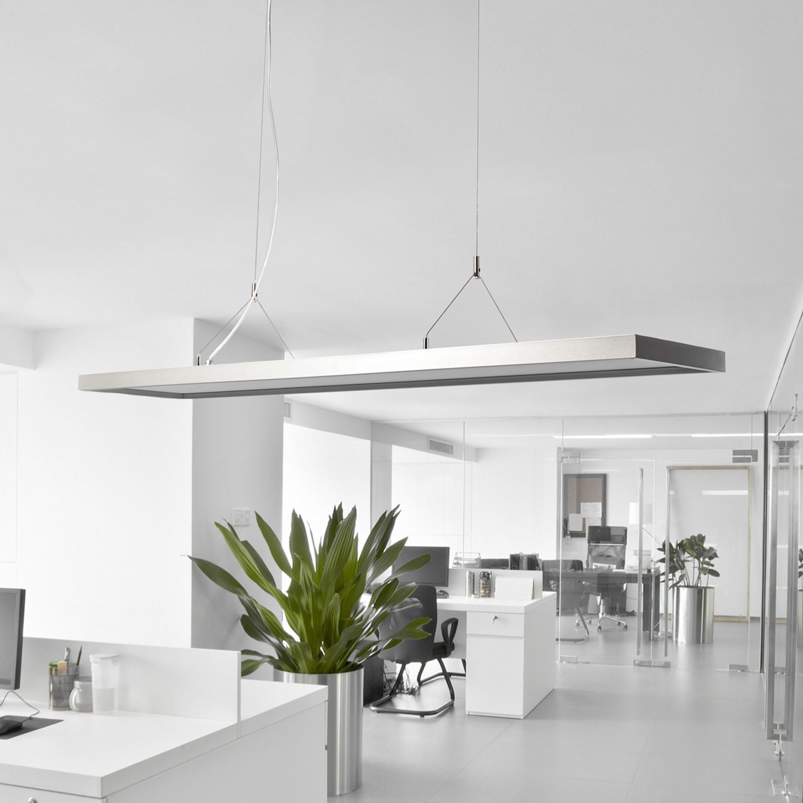 Ściemniana biurowa lampa wisząca LED Dorean