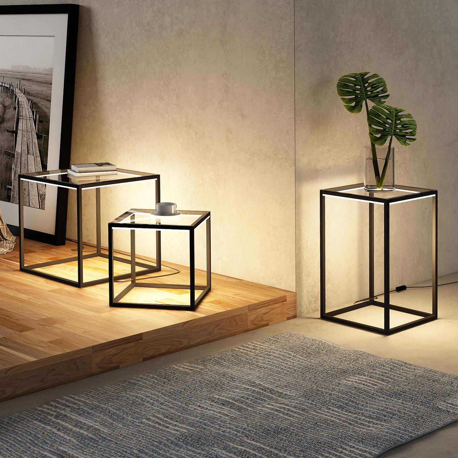Lindby Kagus lámpara de mesa LED, set de 3 ud