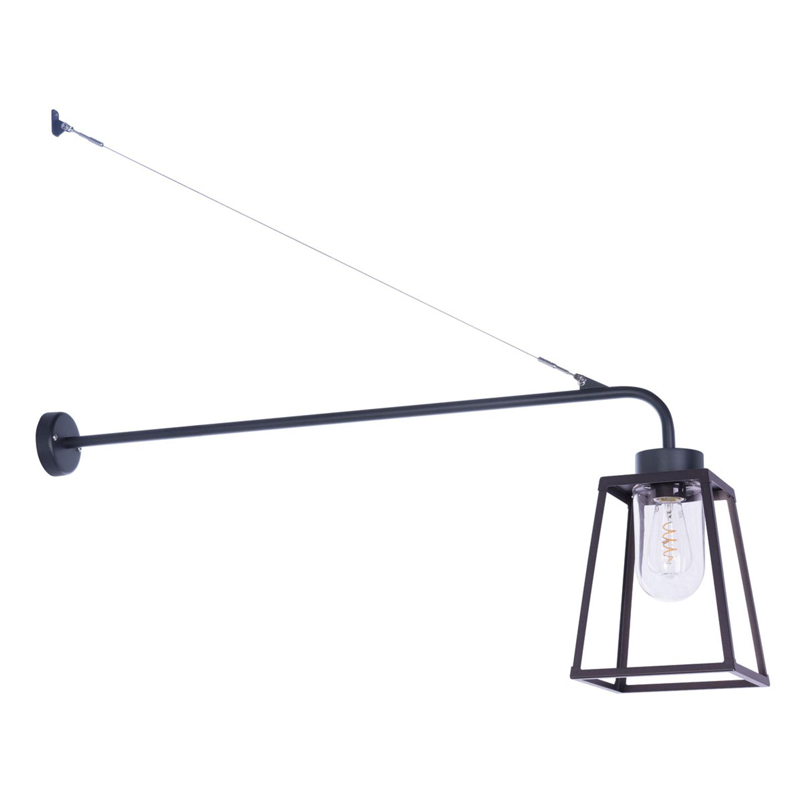 Außenwandleuchte Lampiok, schwarz-grau, 108 cm