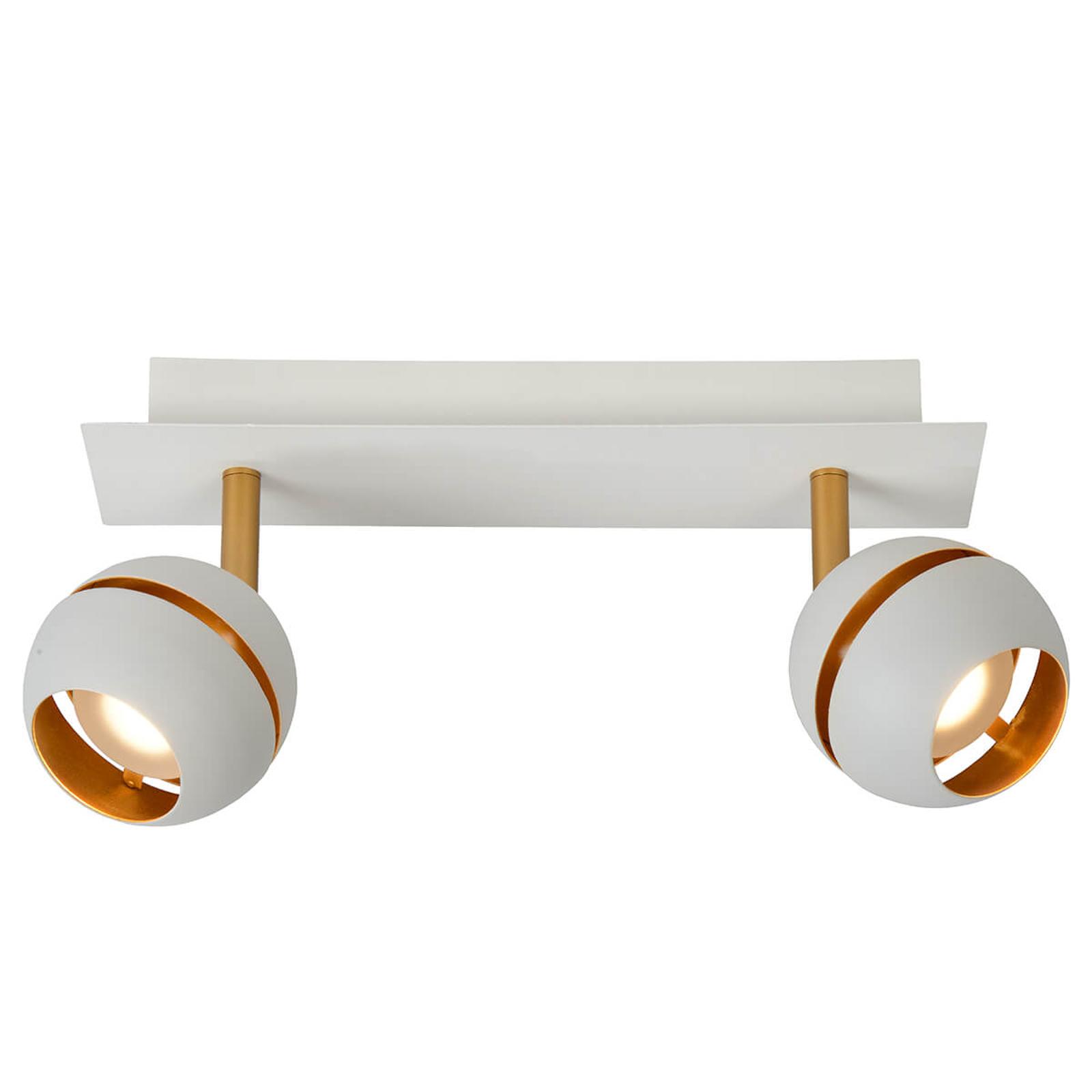 LED plafondlamp Binari, 2-lamps, wit