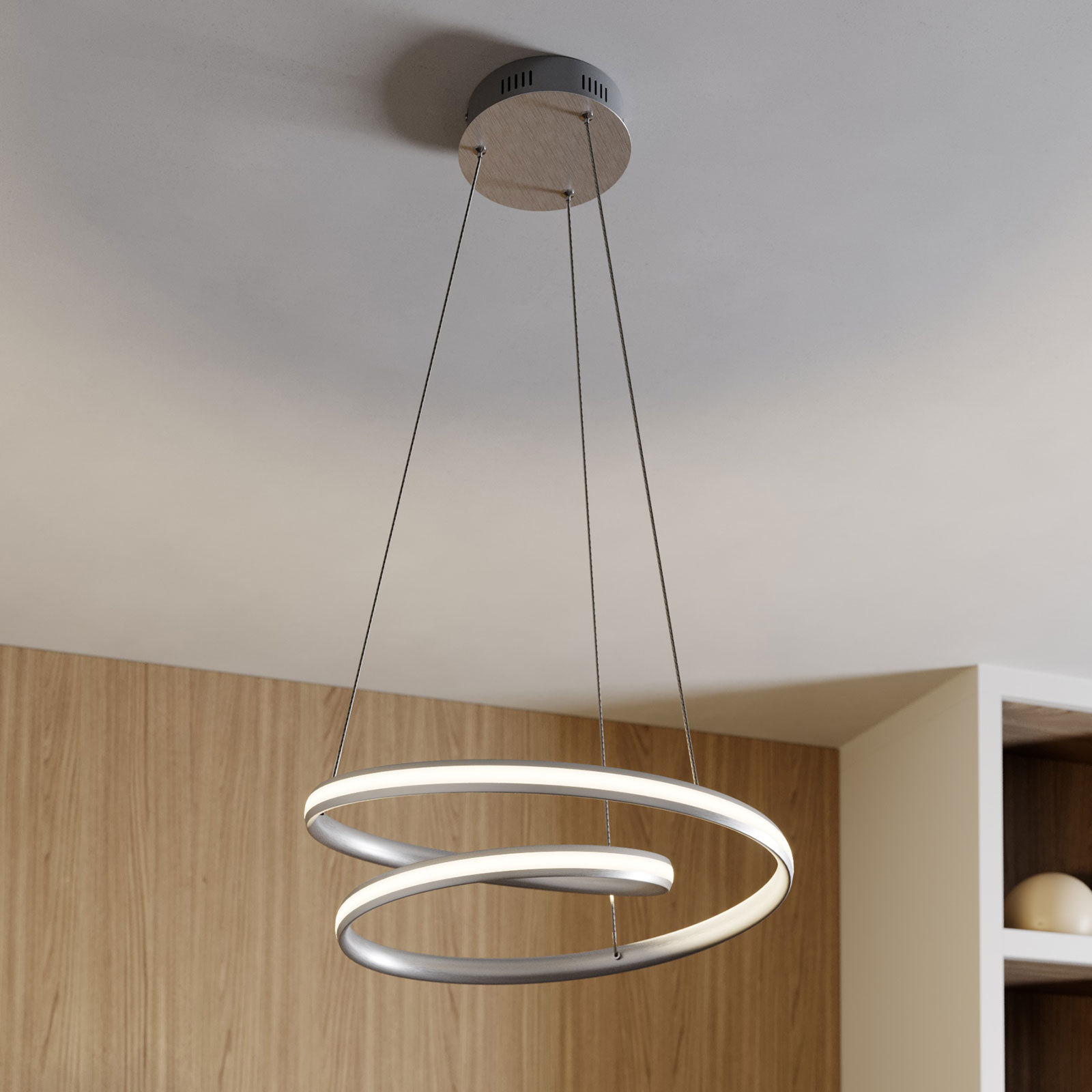 Lindby Smart Verio -LED-riippuvalo, korkeus 16 cm