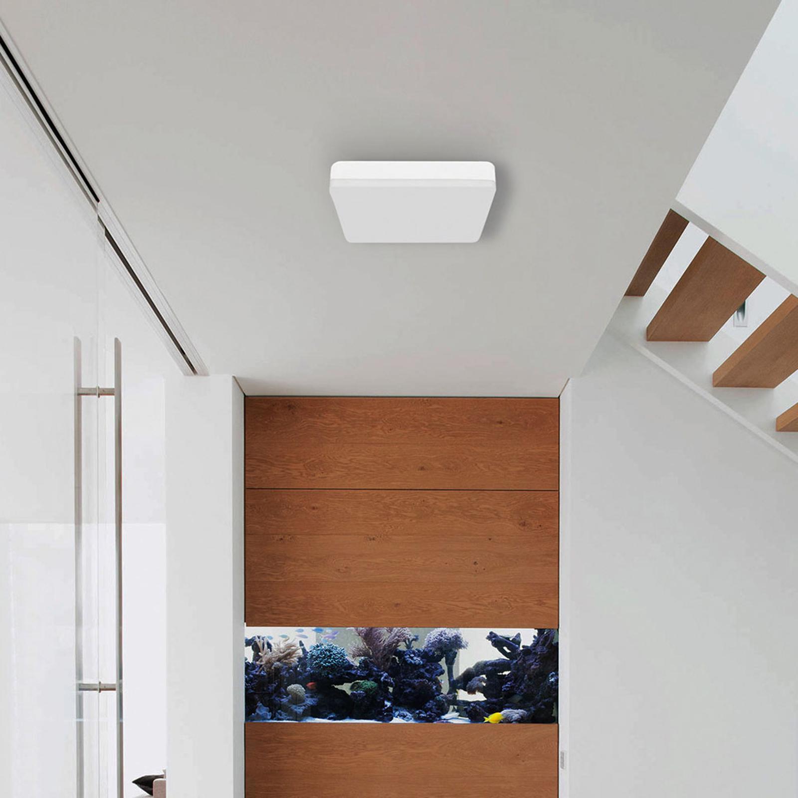 Lampa sufitowa LED do łazienki Square z czujnikiem