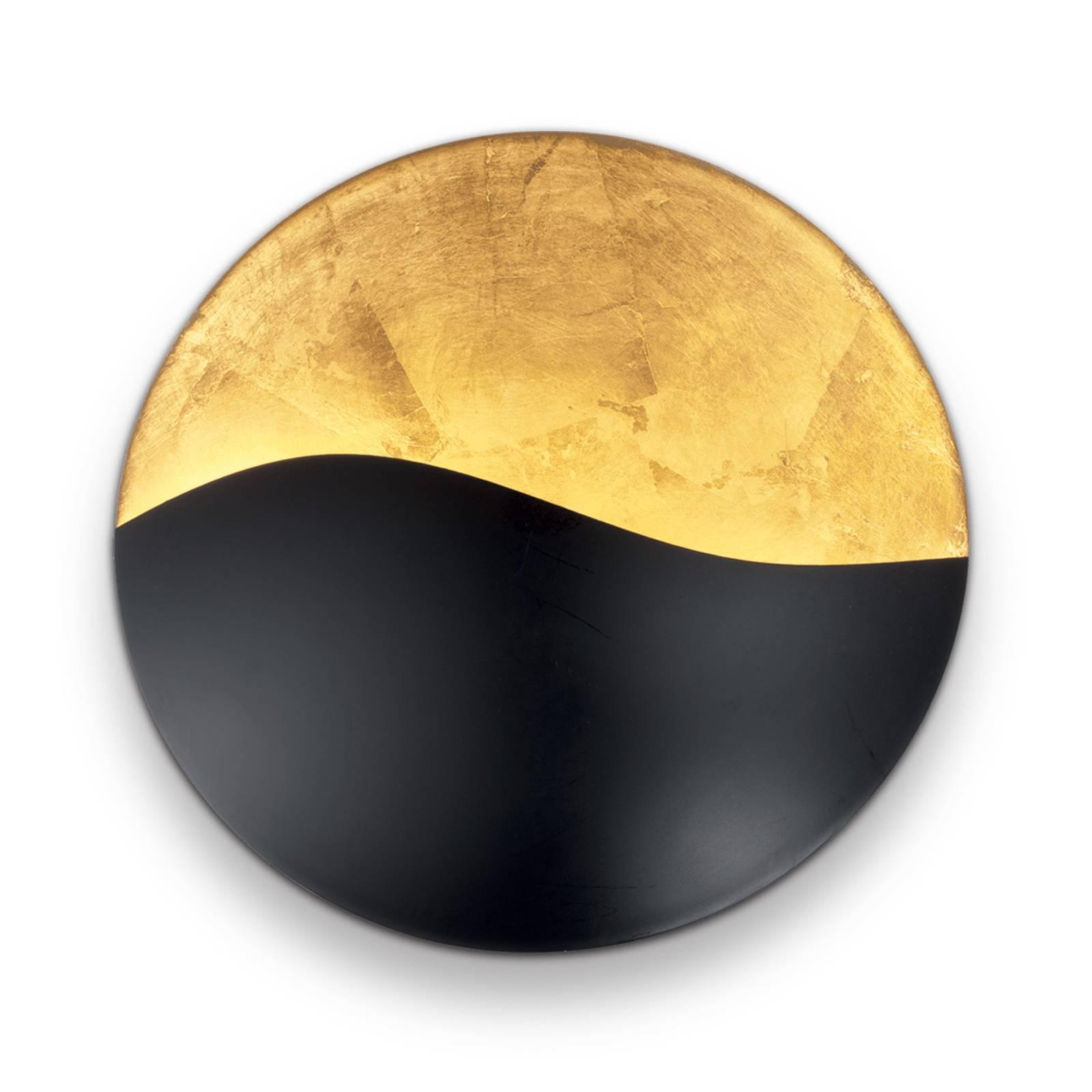 Wandleuchte Sunrise G9, schwarz / gold, Ø 35 cm