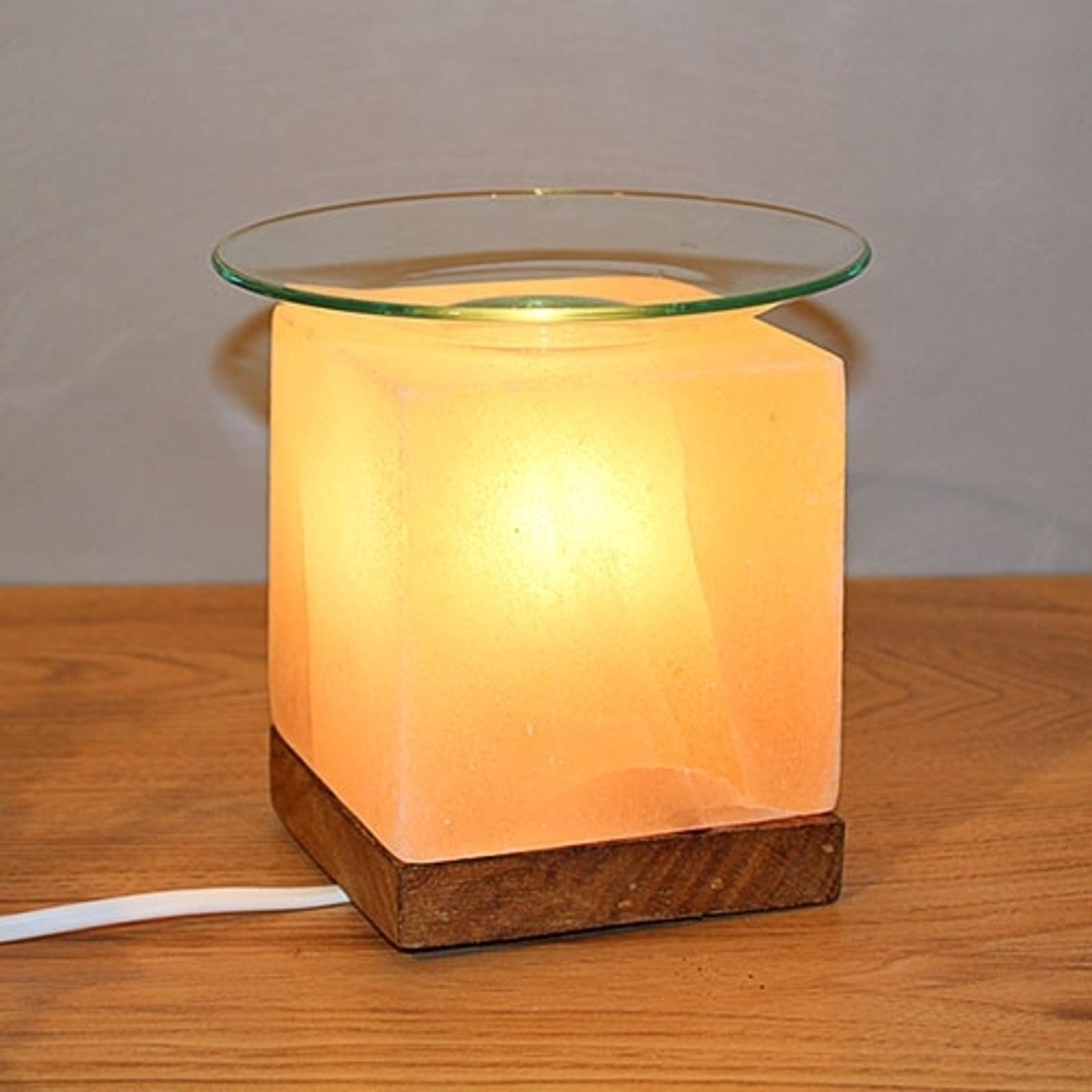 Aromasalzlampe Kubus für stimmungsvolle Stunden