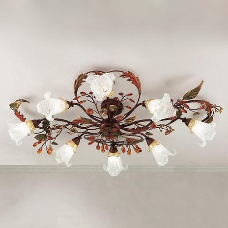 8-pkt. lampa sufitowa Zarah w stylu florenckim