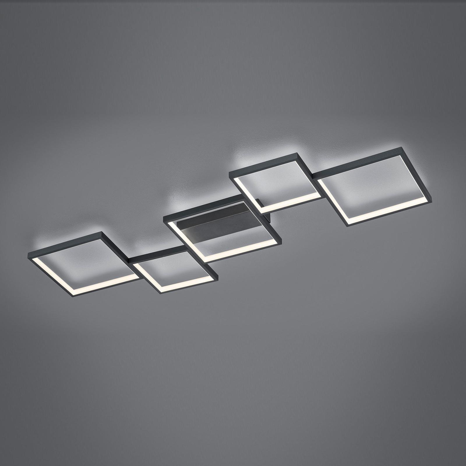 LED-Deckenleuchte Sorrento 120x48cm, schwarz matt