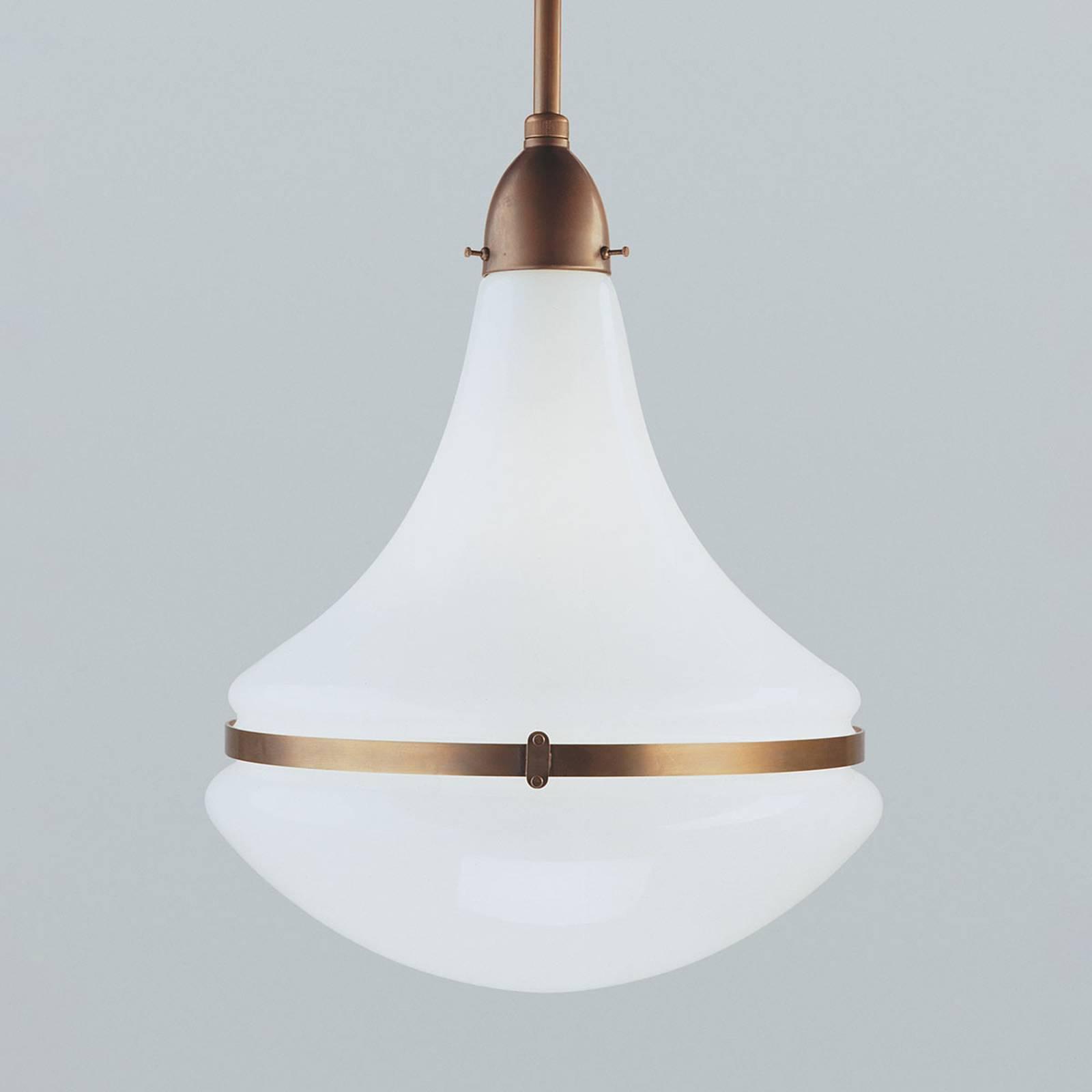 Hanglamp Frida van messing, Ø 34 cm