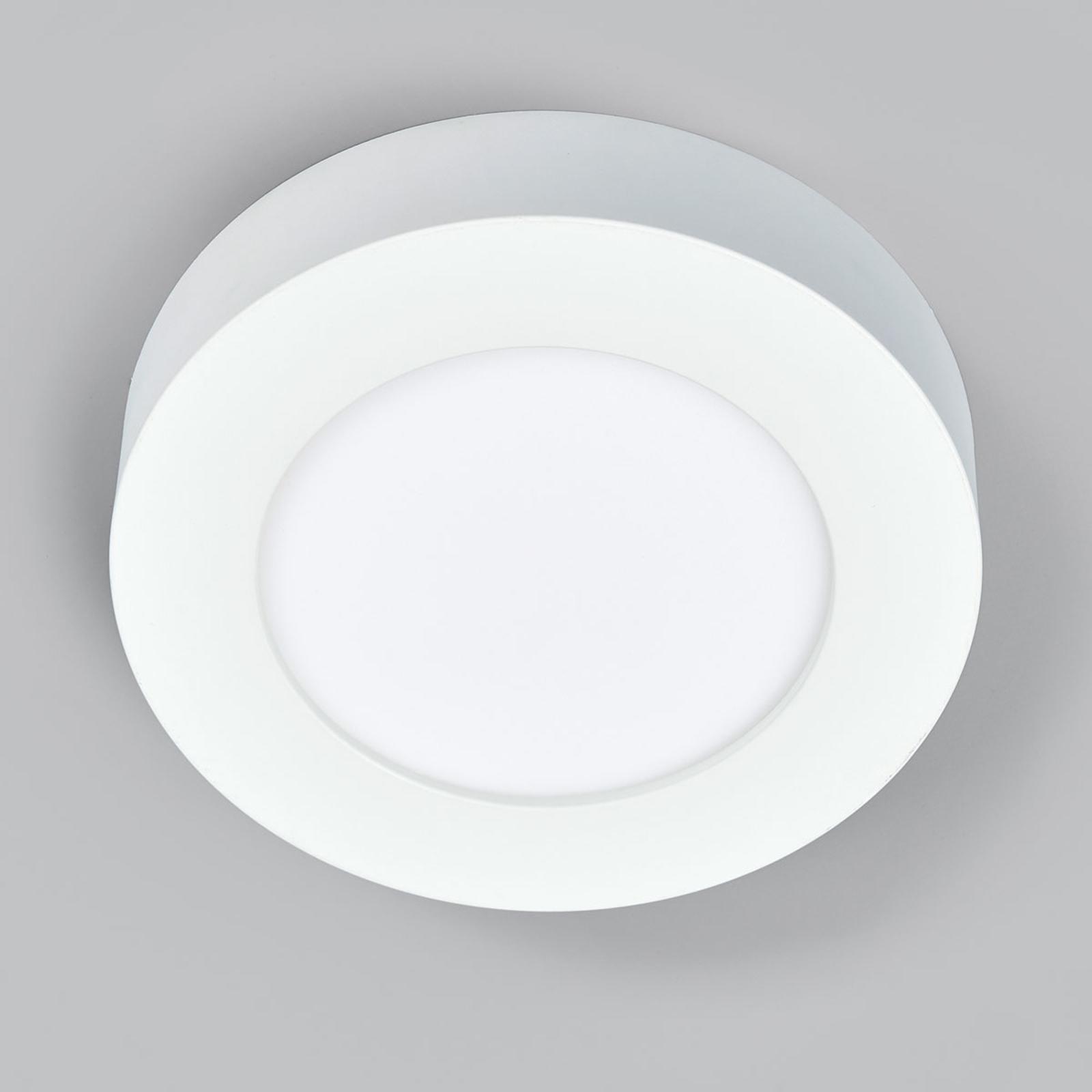 LED plafondlamp Marlo wit 4.000K rond 18,2 cm