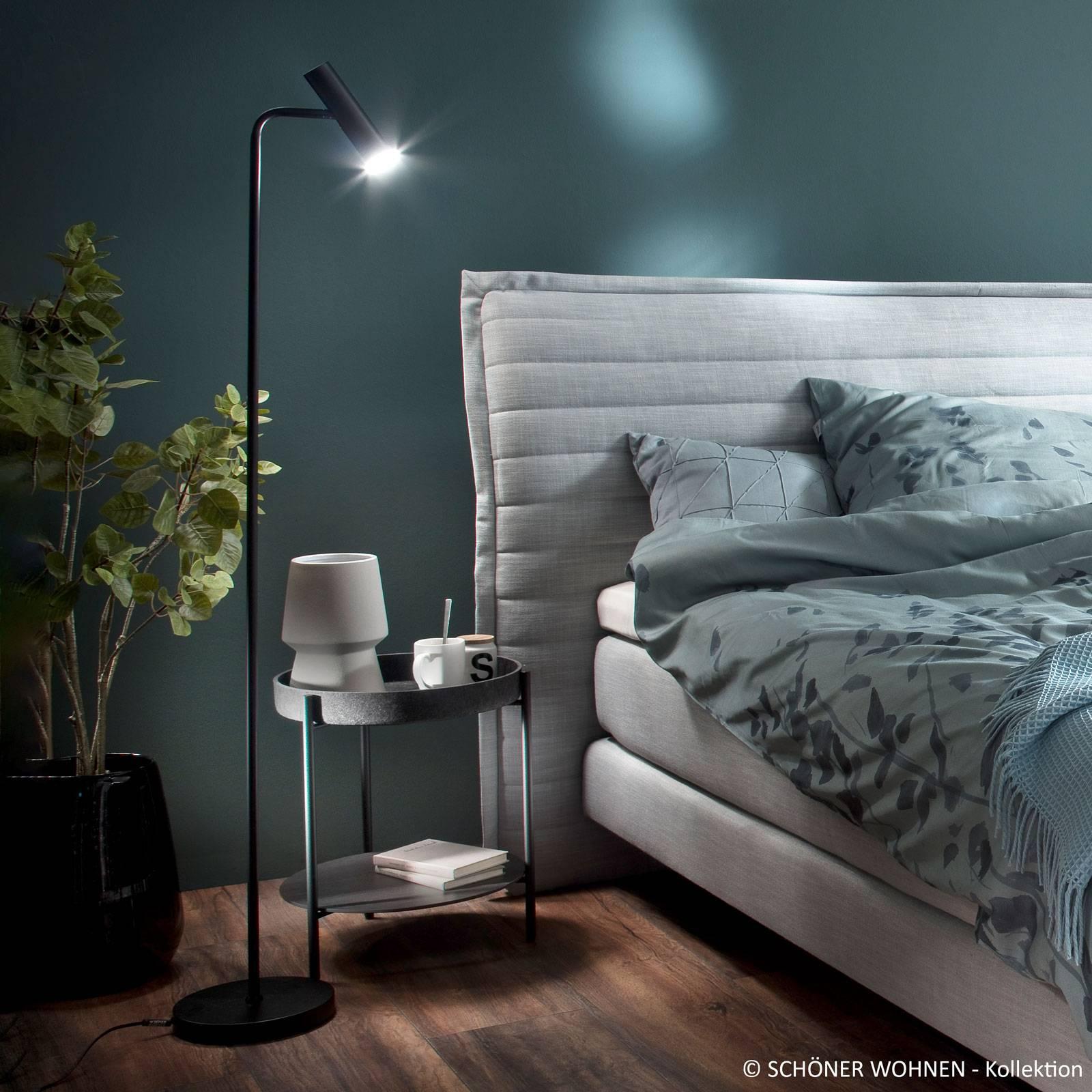 Schöner Wohnen Stina LED-Stehleuchte schwarz