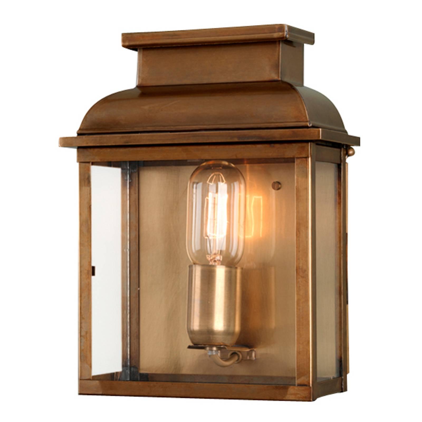 Handgemaakte buitenwandlamp Old Bailey, messing