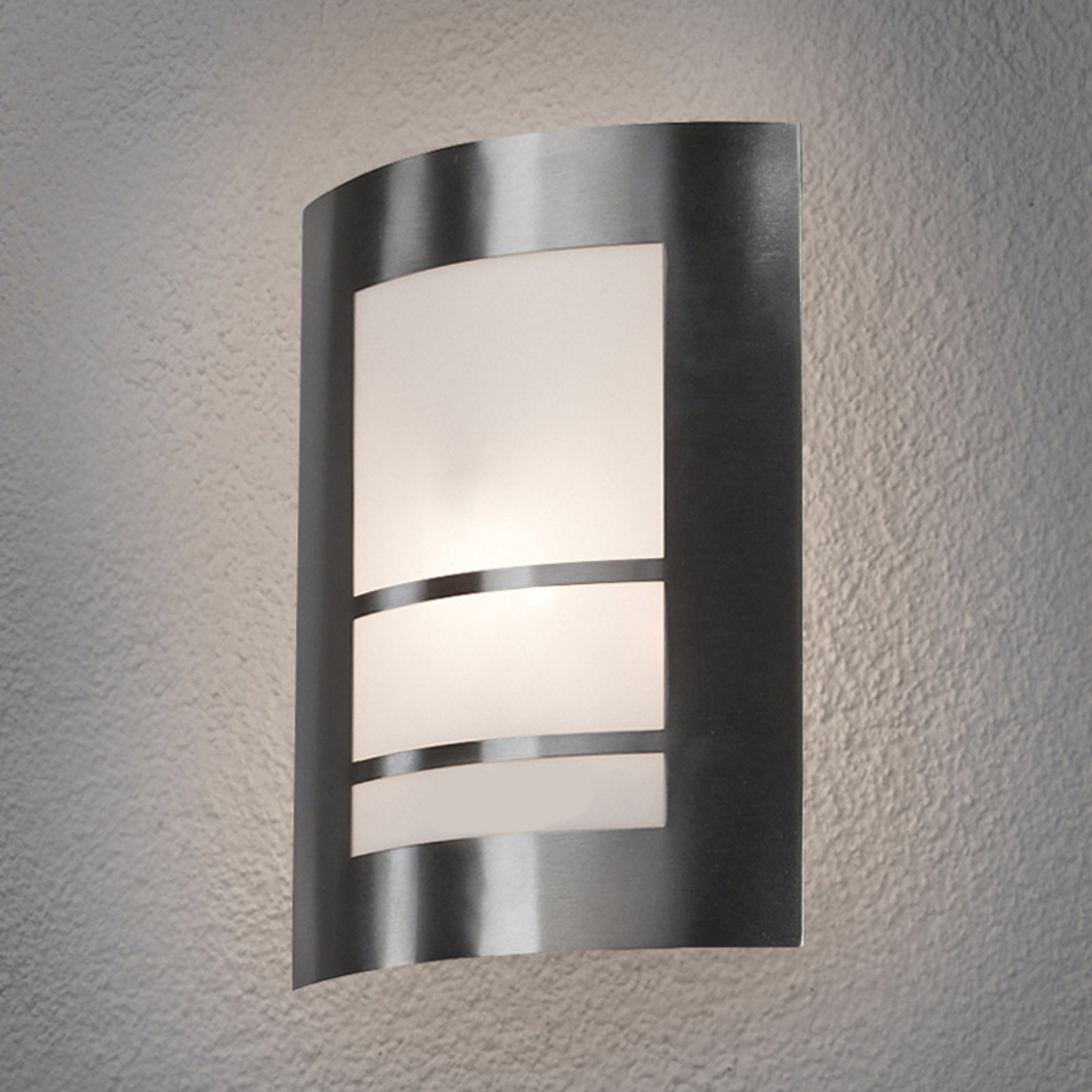 LED-Außenwandleuchte Katalea in Silber