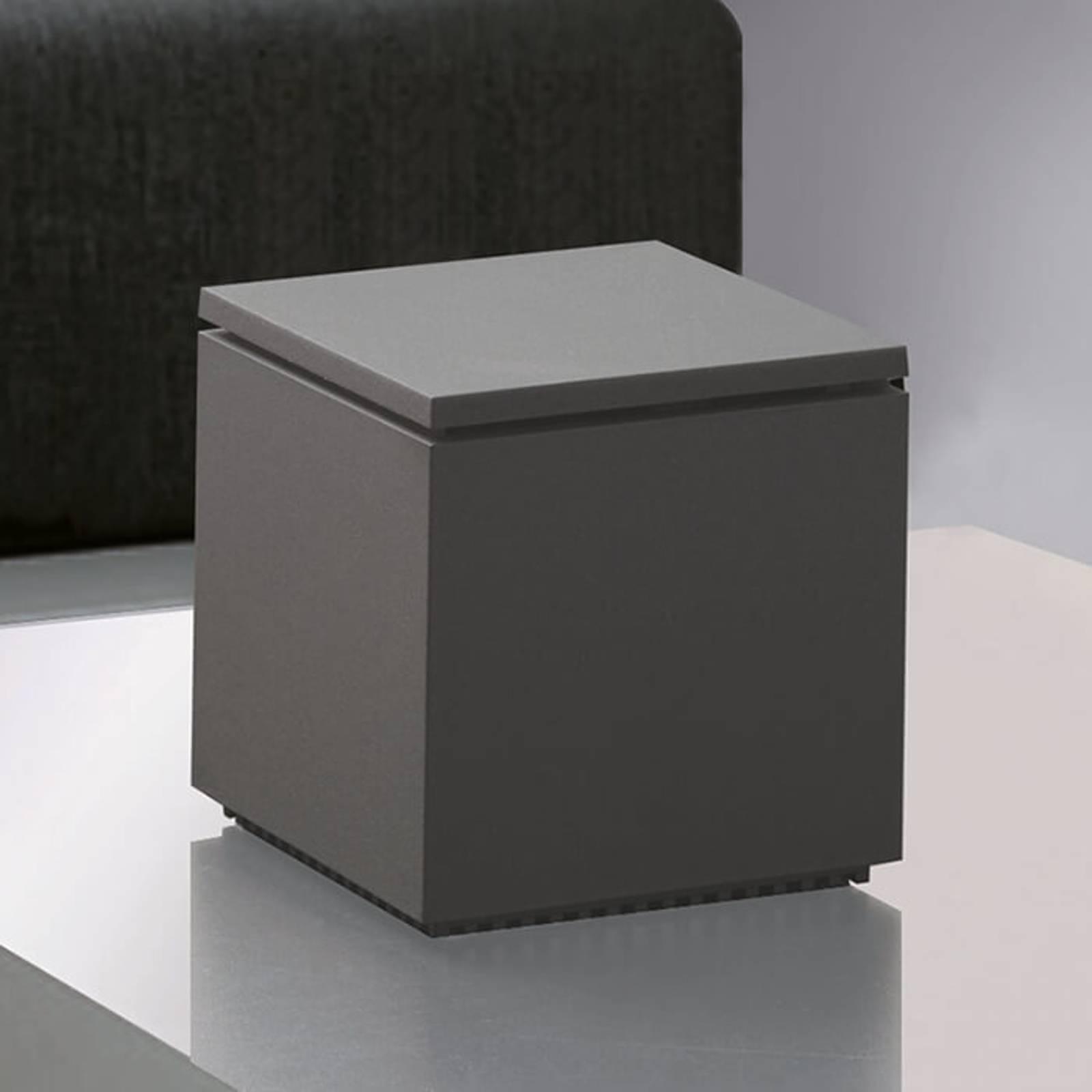 Lampe à poser LED Cuboled anthracite, cubique