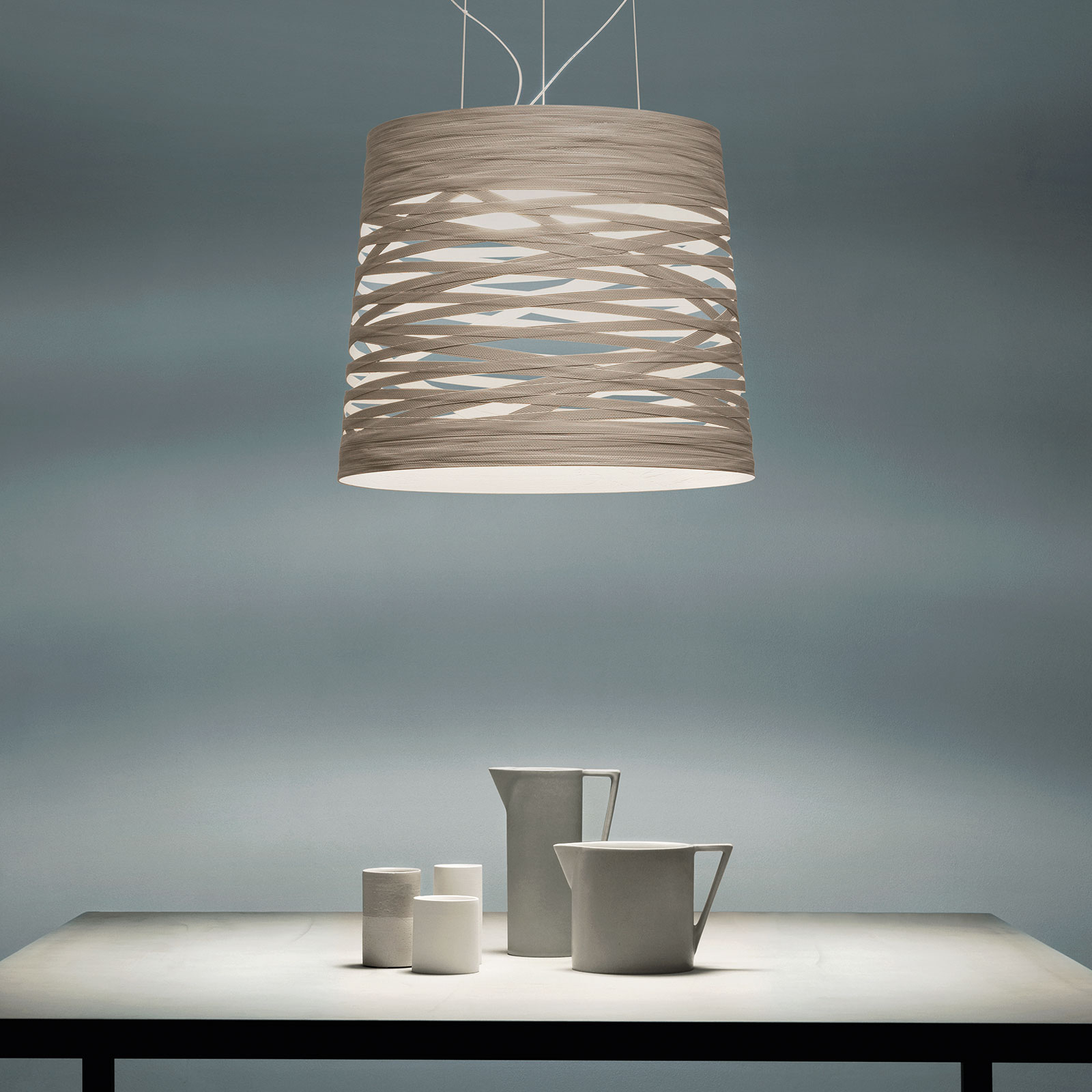 Foscarini Tress grande suspension LED, dimmable | Luminaire.fr