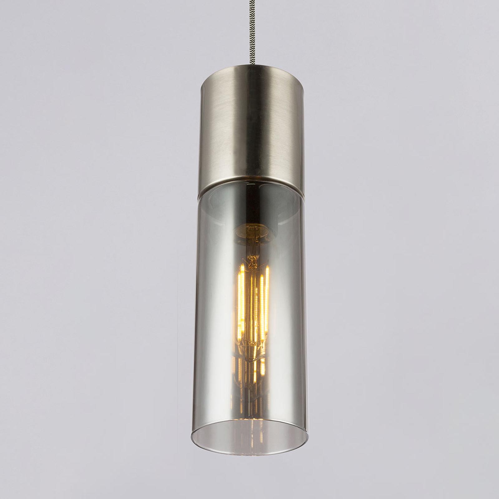 Lámpara colgante Annika, 1 luz, níquel