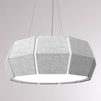 LOUM Decafelt LED-pendellampe akustikk grå