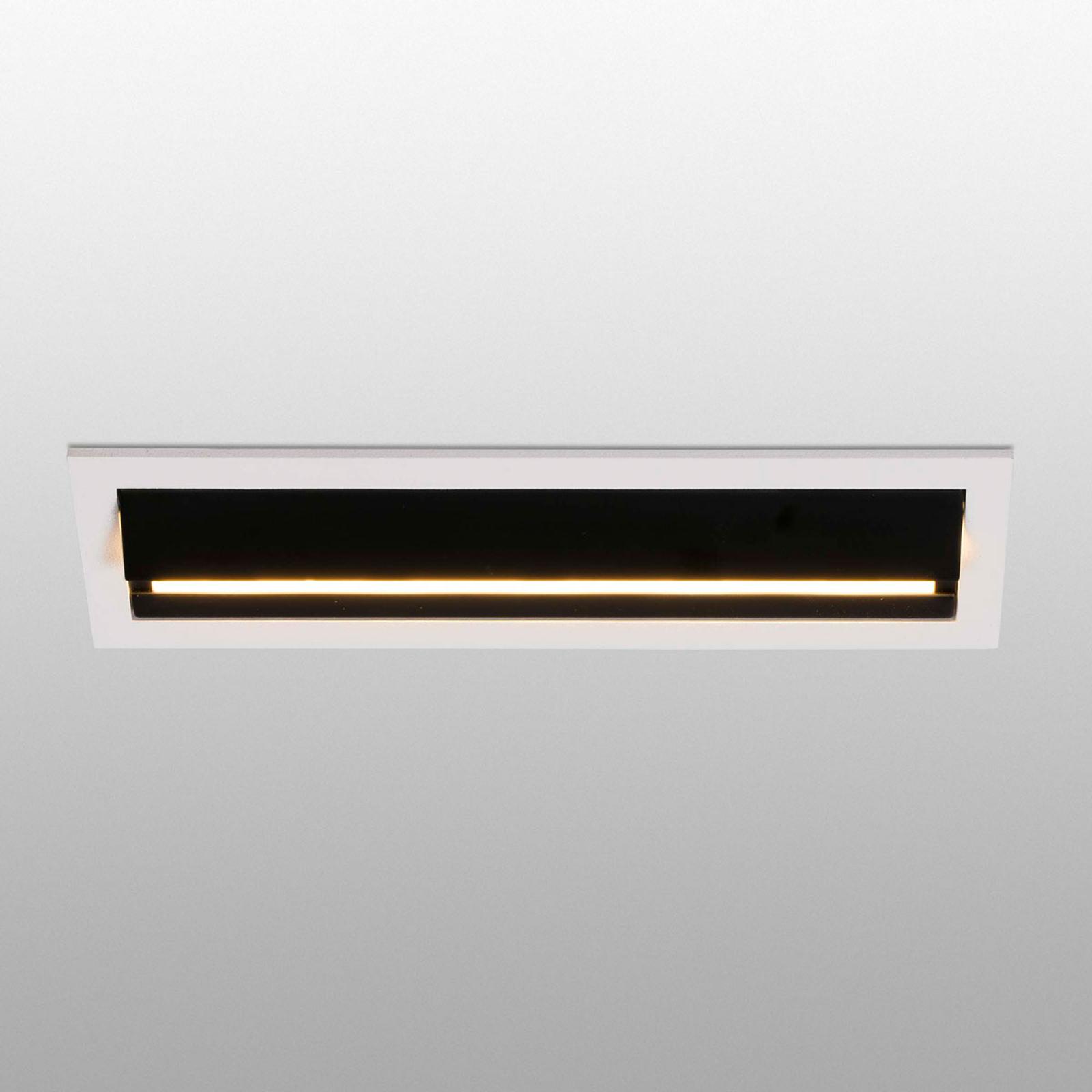 LED-Wallwasher Troop, Einbauleuchte mit Rahmen