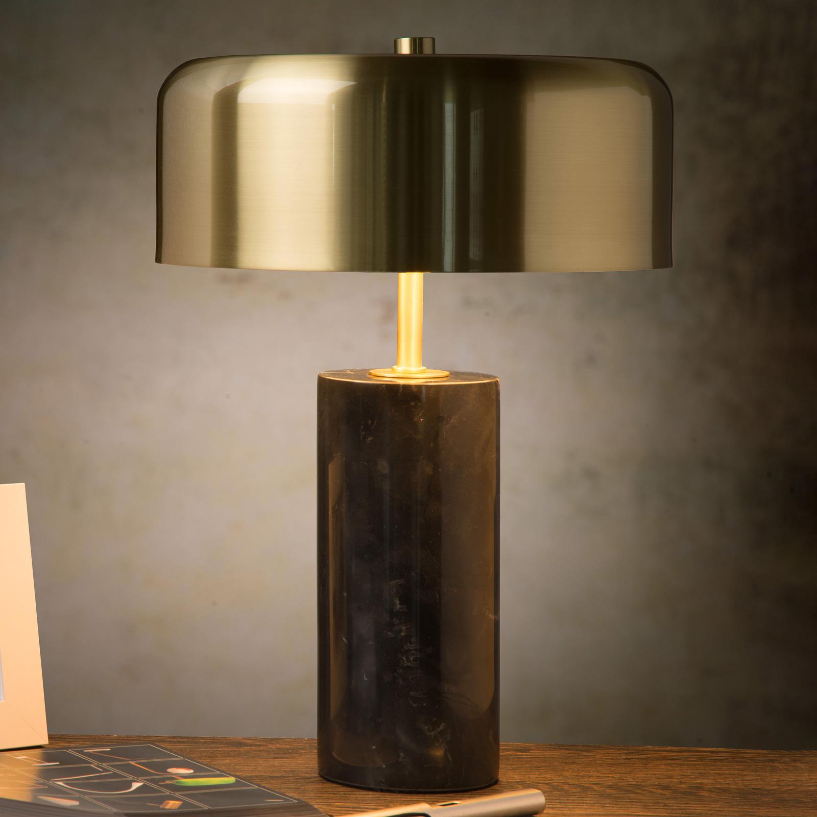 Lampe à poser Mirasol marbre noir