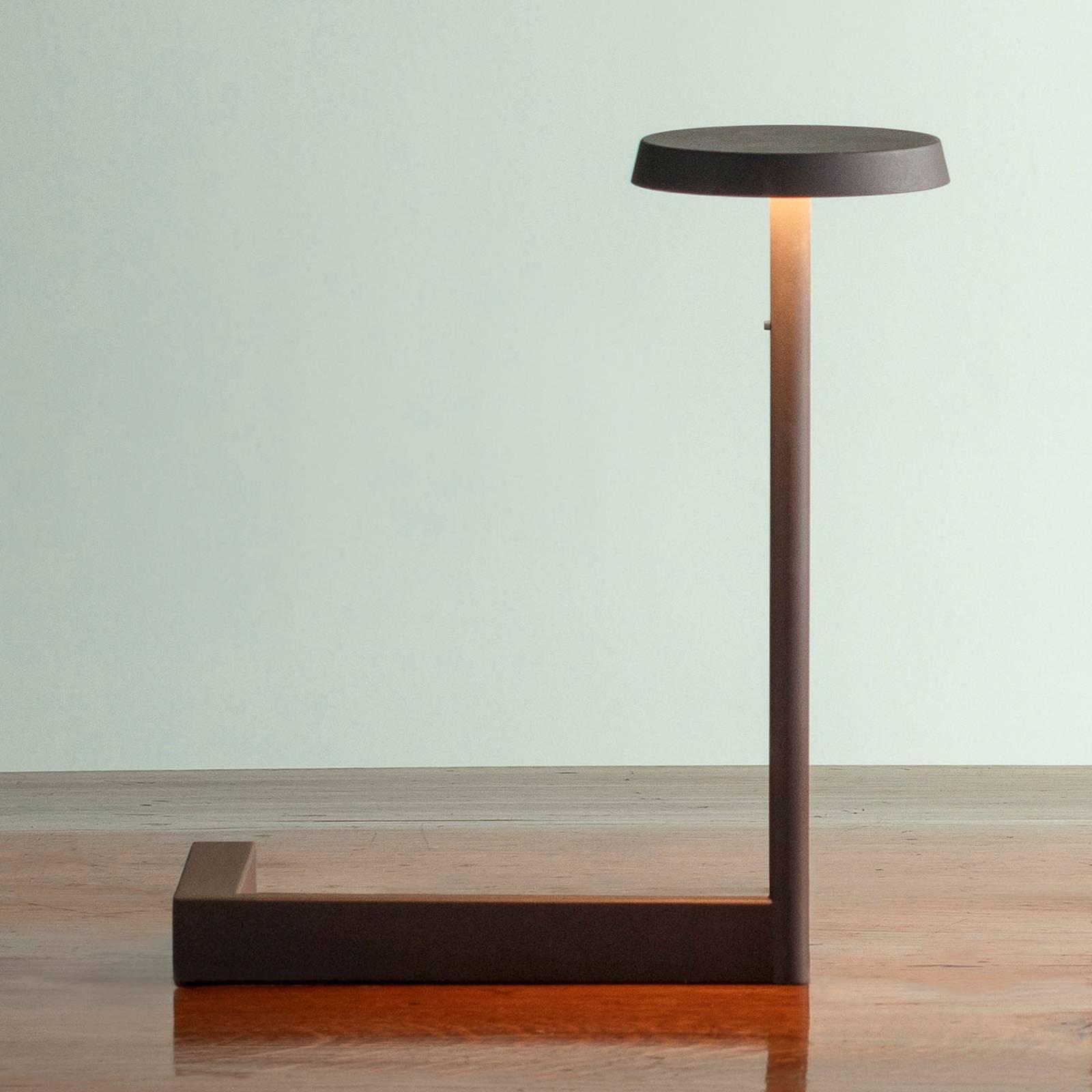 Vibia Flat lampe à poser LED hauteur 30cm noire