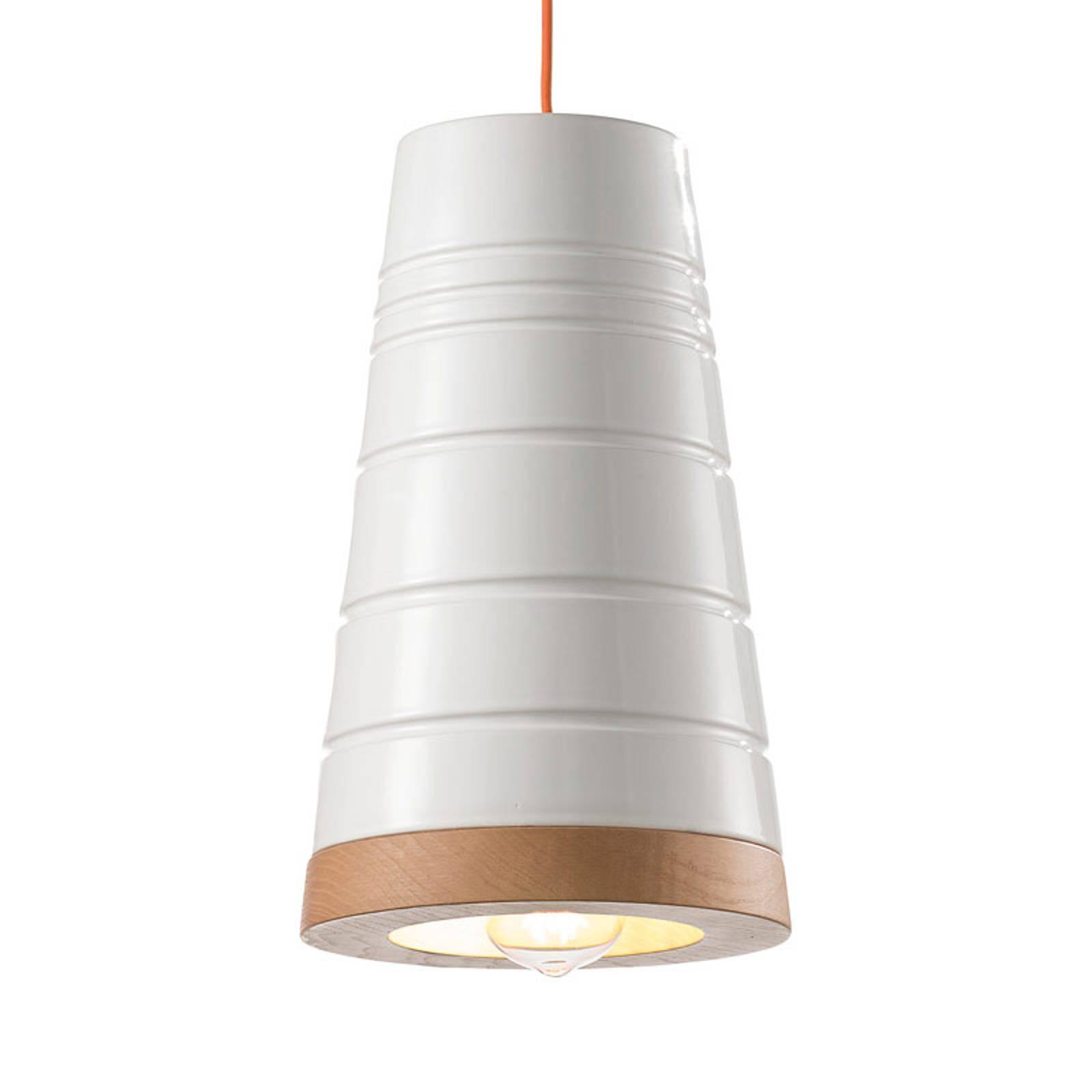 Scandinavische keramieken hanglamp C1785 wit