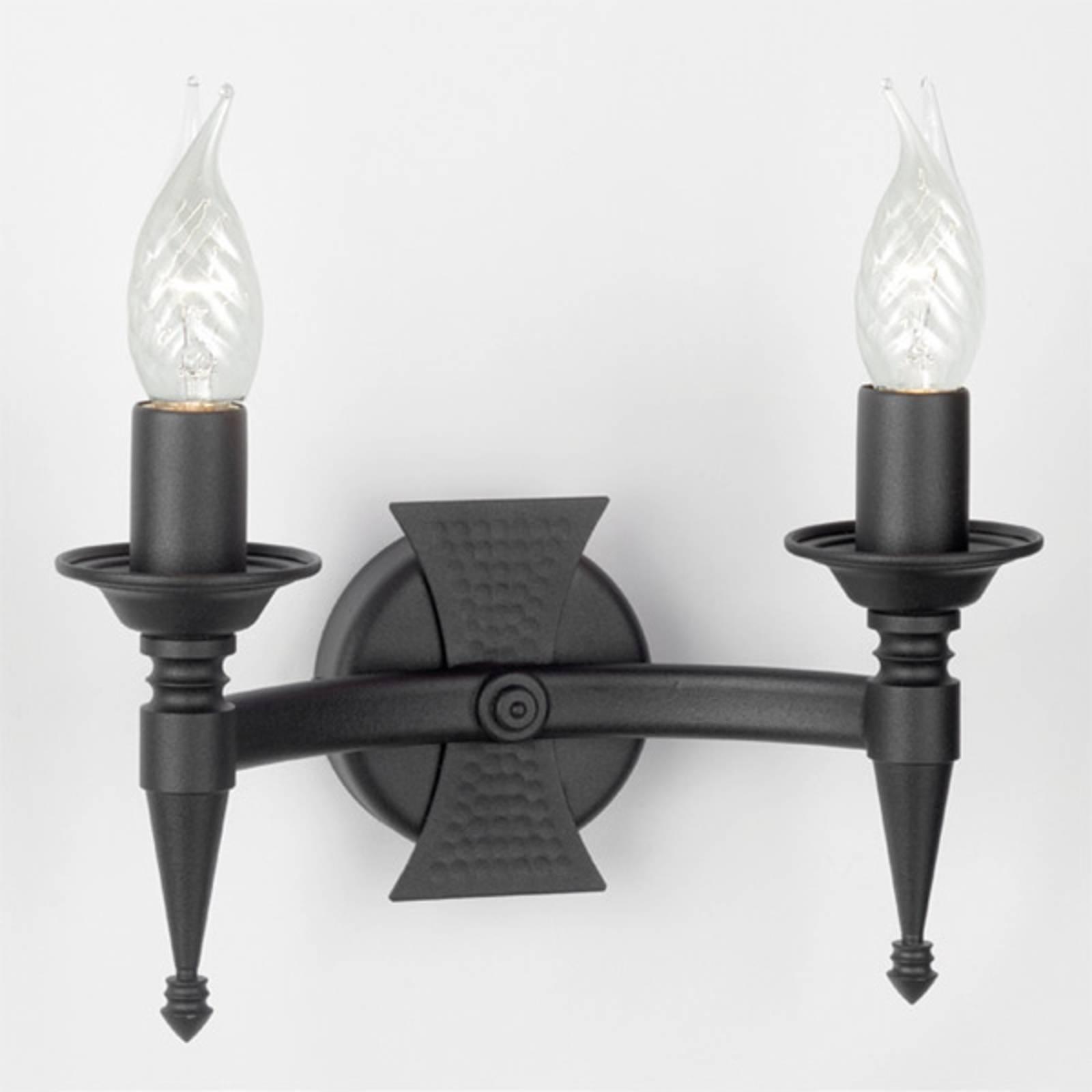 Applique à 2 lampes SAXON noire
