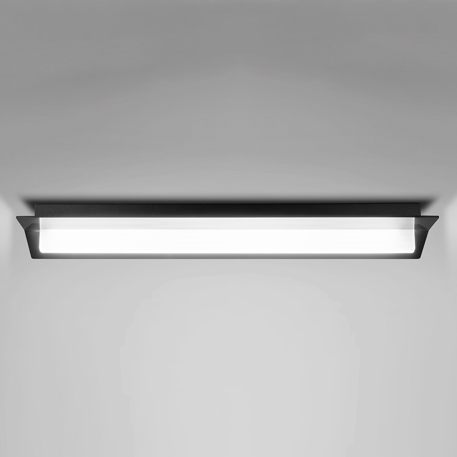 LED plafondlamp Flurry, 100 cm, zwart