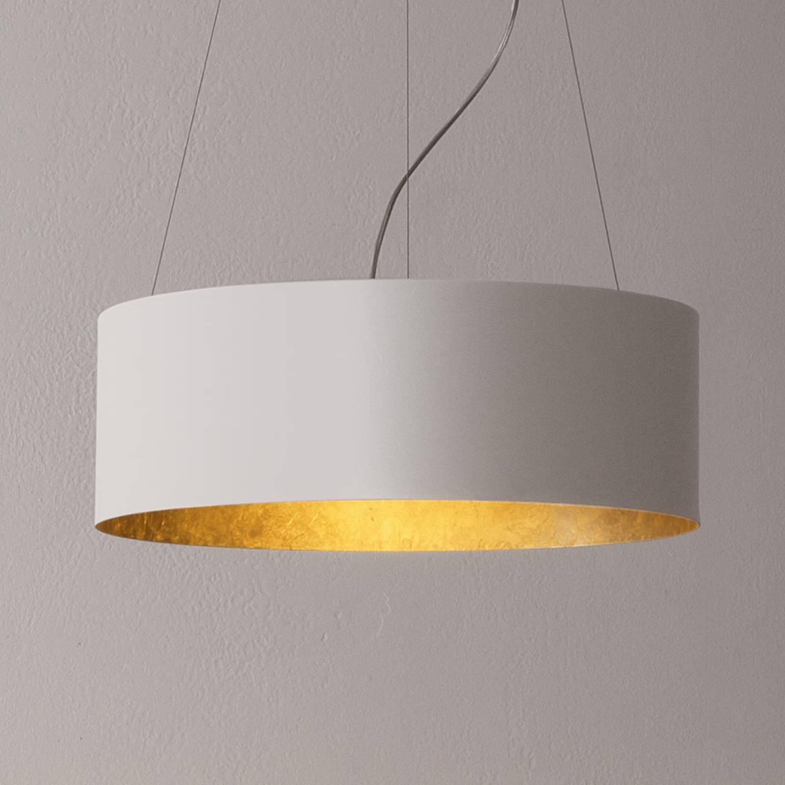 ICONE Olimpia LED-Hängeleuchte mit edlem Blattgold