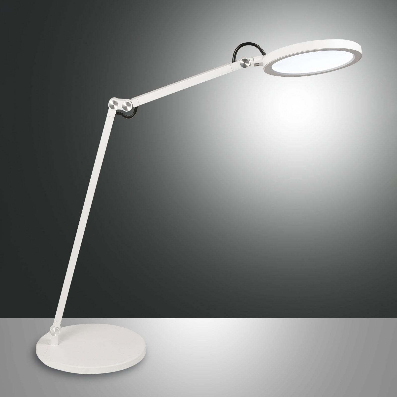 LED-Schreibtischleuchte Regina mit Dimmer, weiß