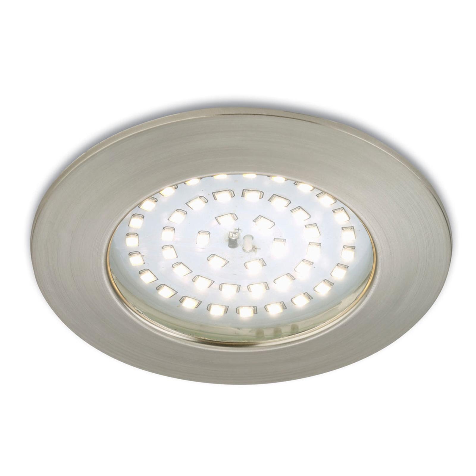 Accentgivande LED-inbyggnadsspot Paul matt nickel