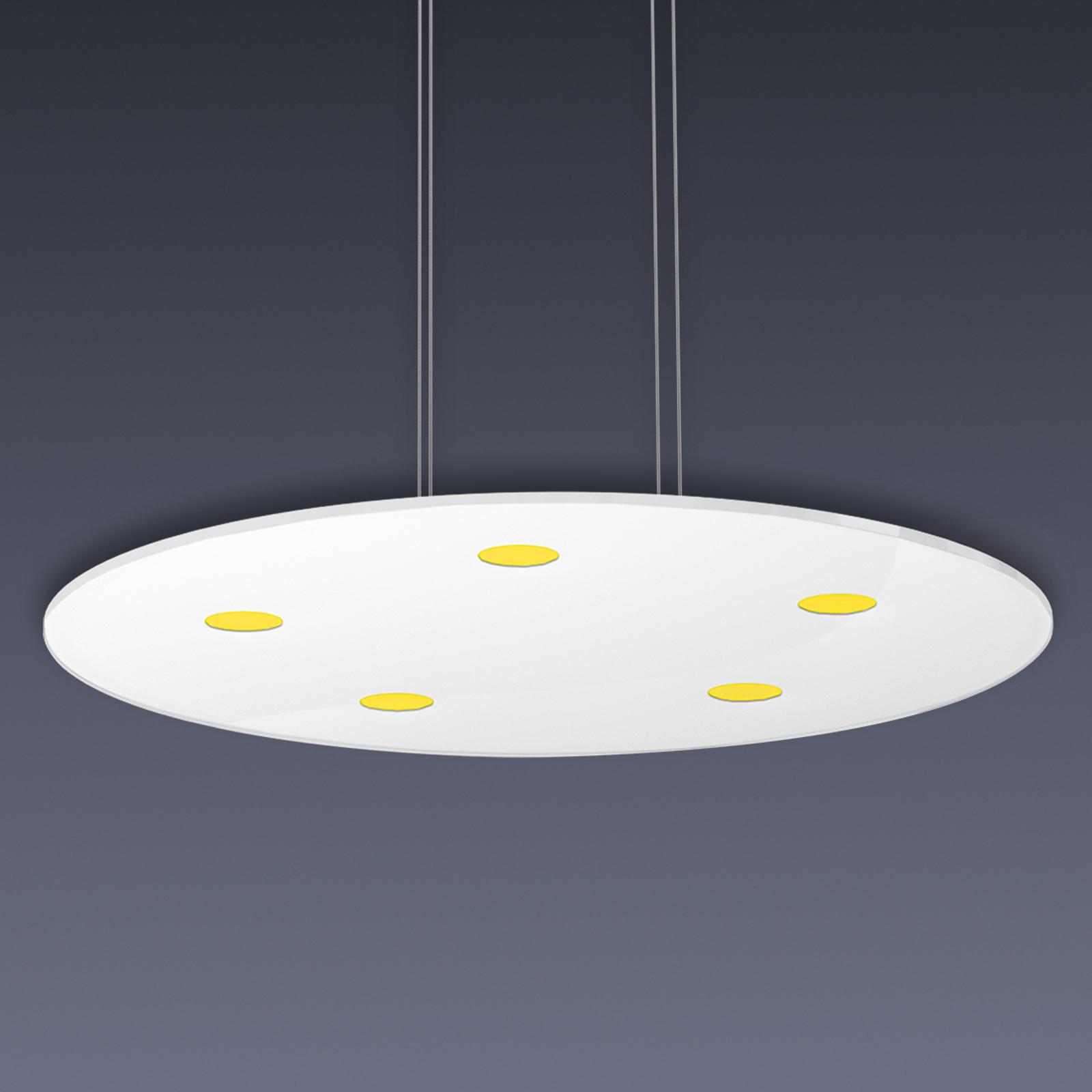 Rund LED-pendellampe Sunia med touch-dæmper