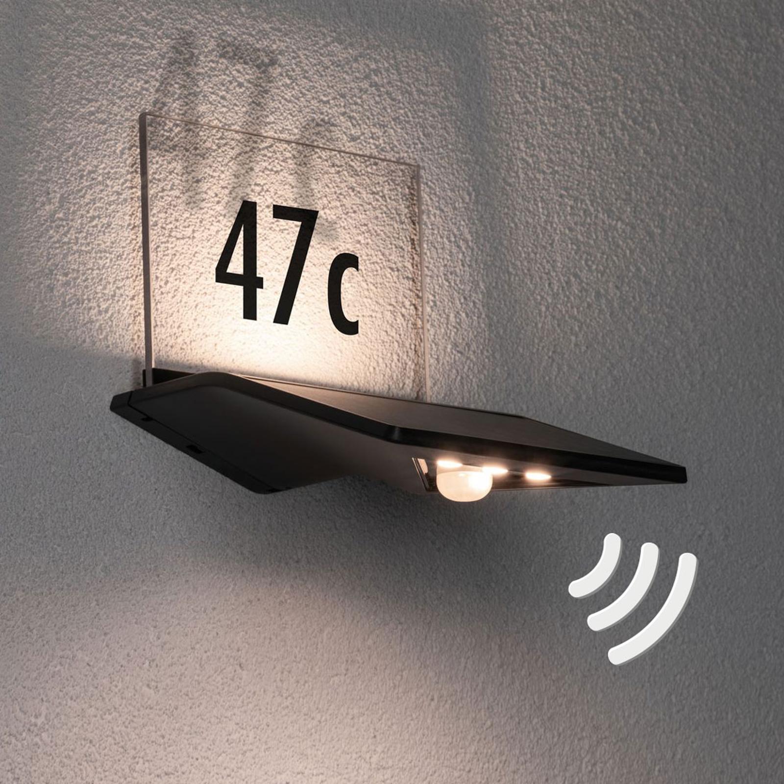 Paulmann solární světlo čísla domu Yoko, antracit