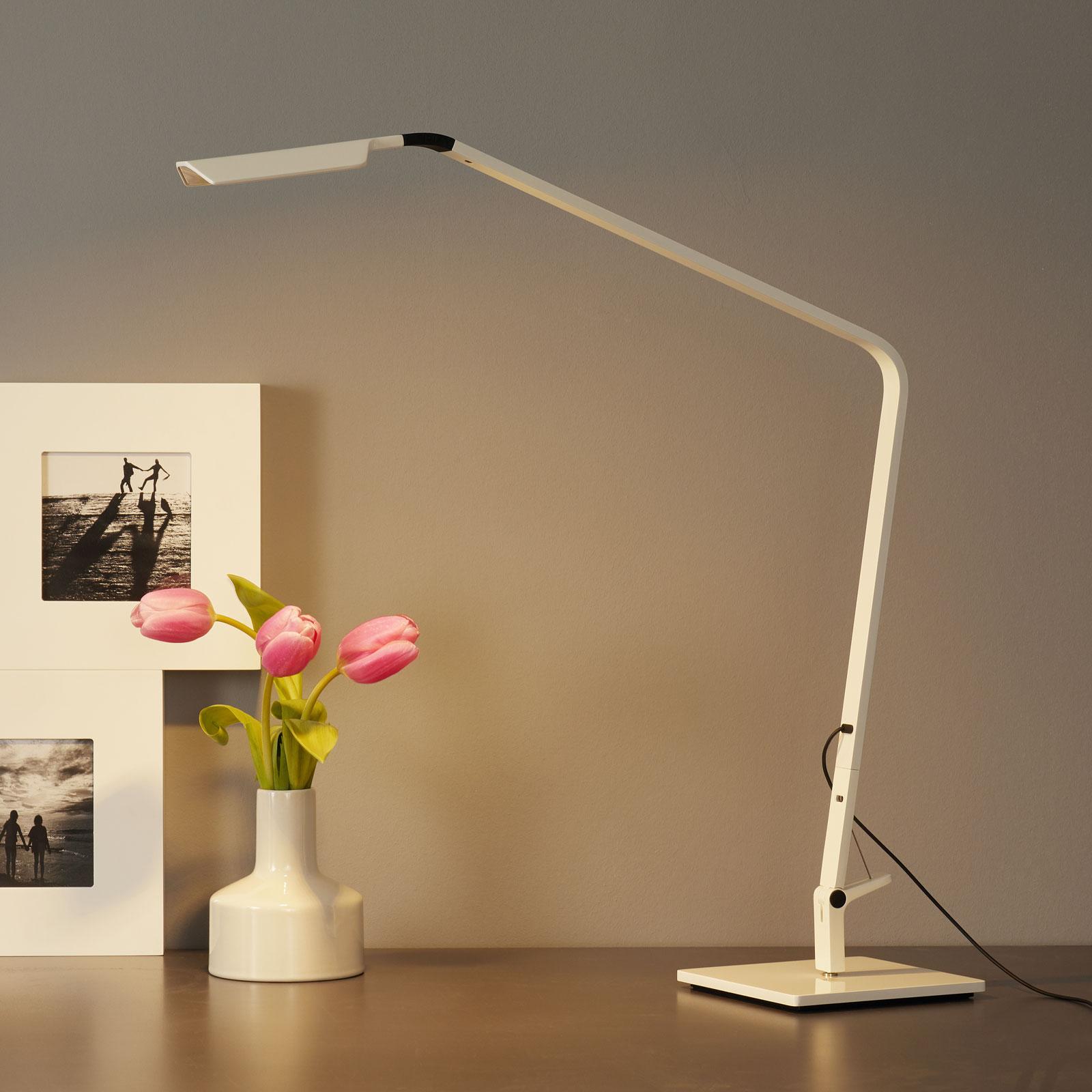 Vibia Flex - LED-Tischleuchte, glänzend weiß kaufen