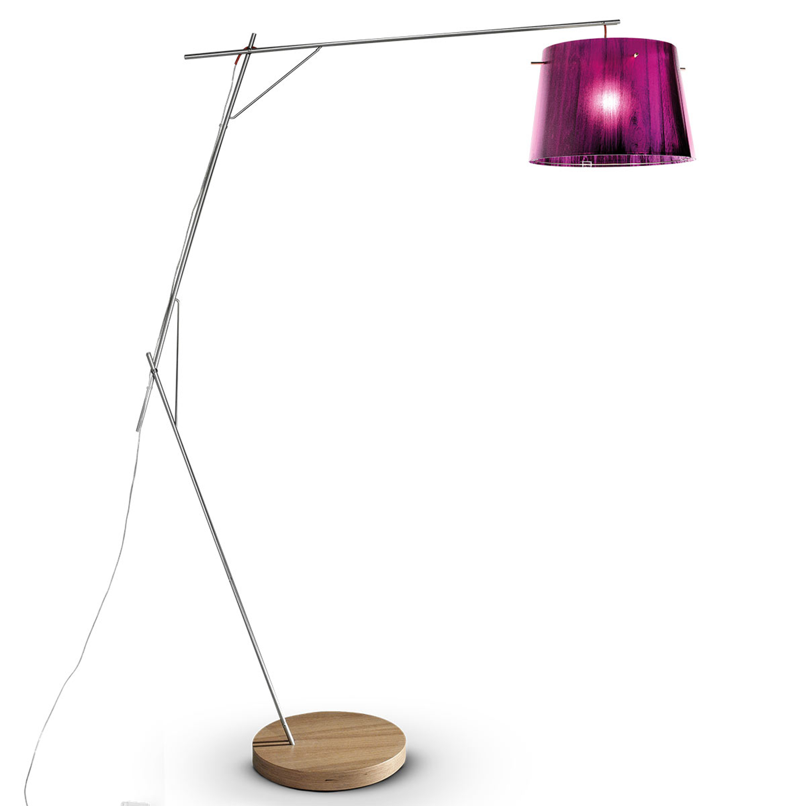 Slamp Woody - design-vloerlamp, purper