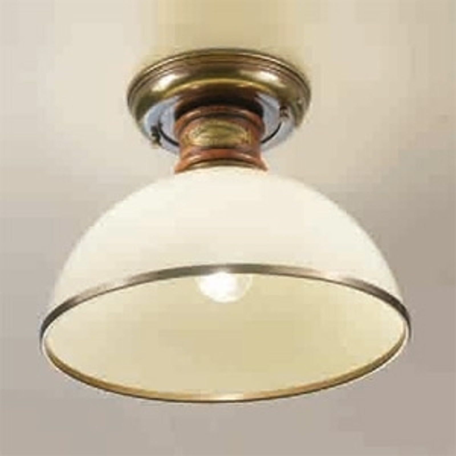 Elfenbensfarget Libeccio taklampe av glass
