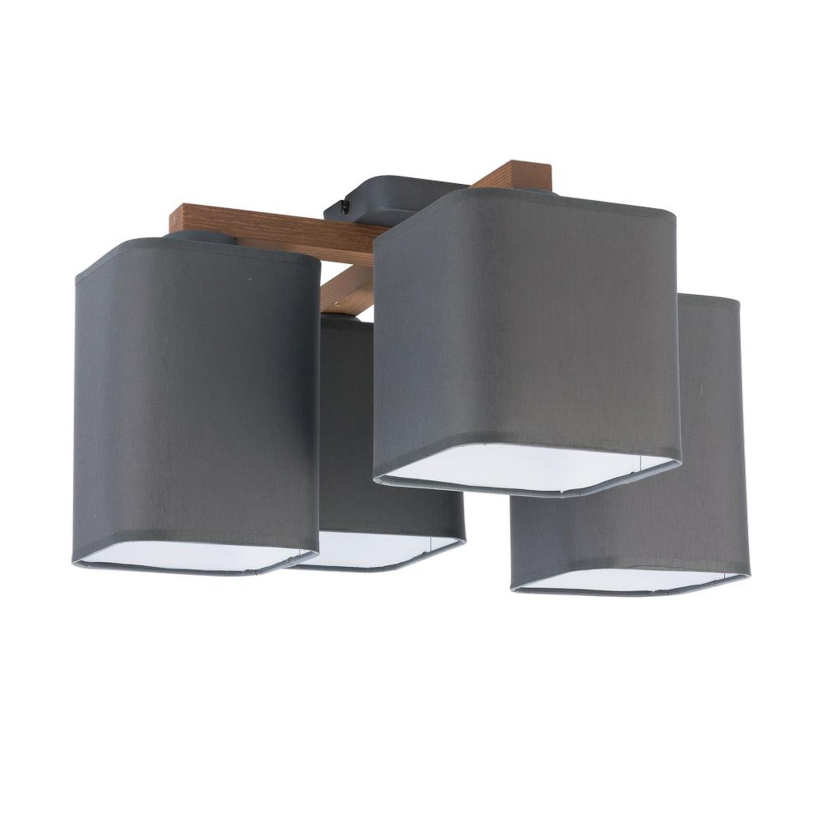 Taklampe Tora, 4 lyskilder, grå