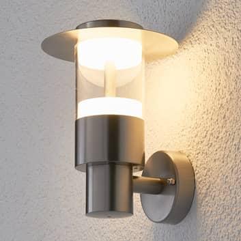 lámpara pared exterior Anouk acero inox. con LED