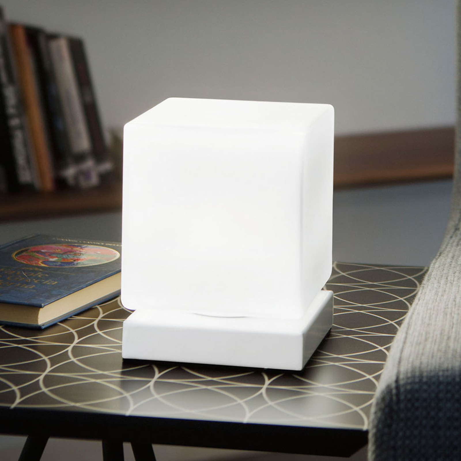 Met aanraakdimmer - LED tafellamp Brenta wit