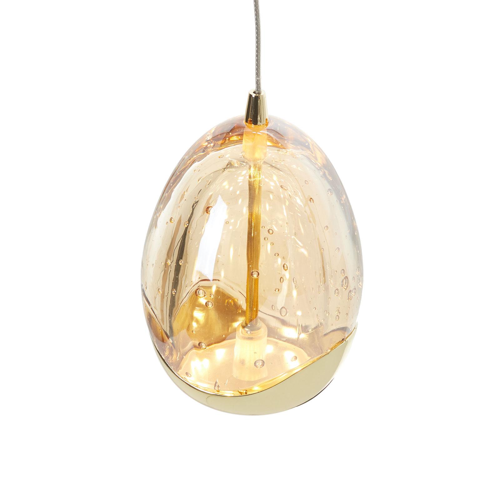 Suspension LED 1 lampe Rocio, finition dorée