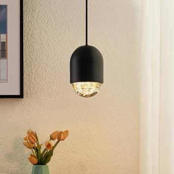 Lucande Amielle závěsné světlo, 1 zdroj, černá