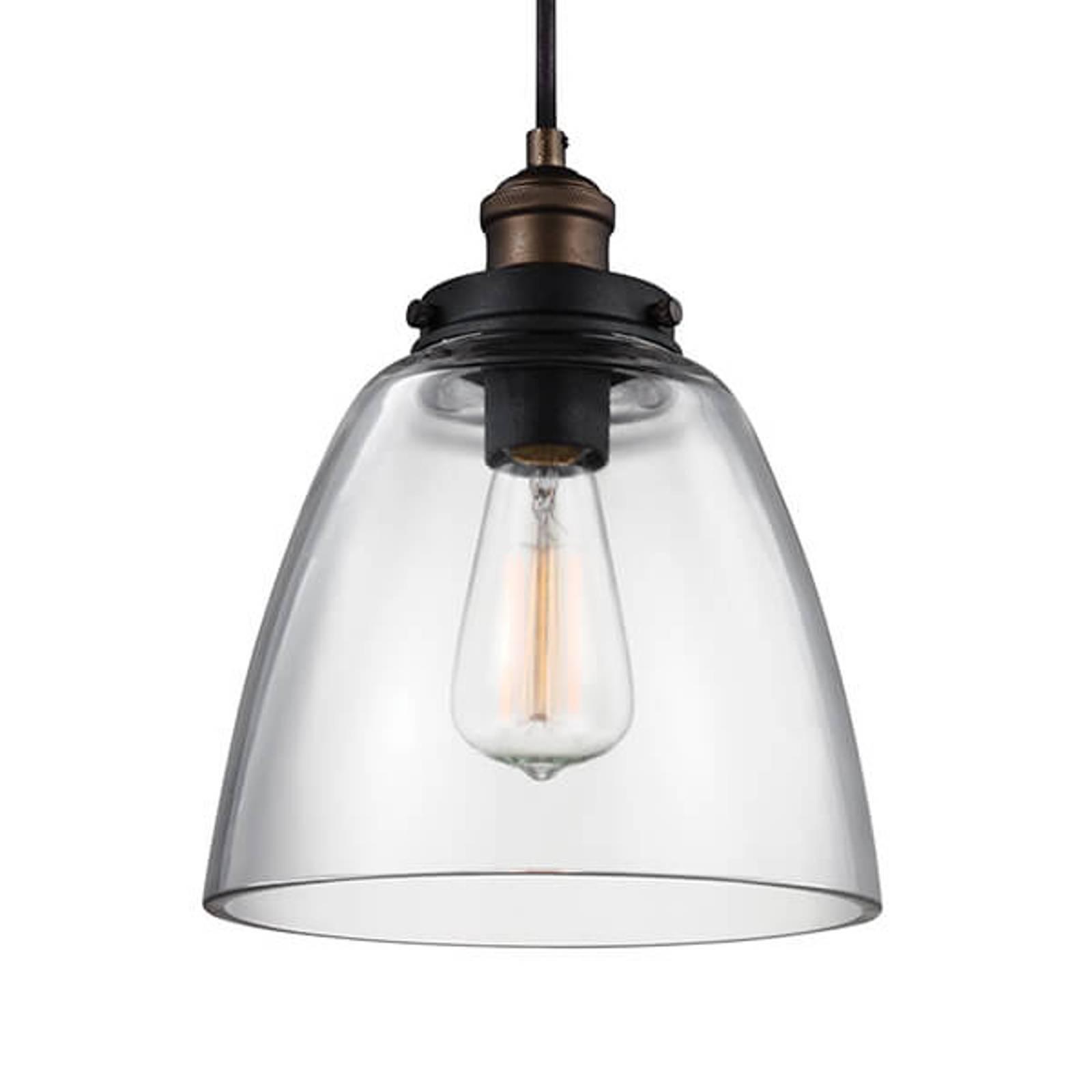 Lampa wisząca Baskin B, stary mosiądz, cynk