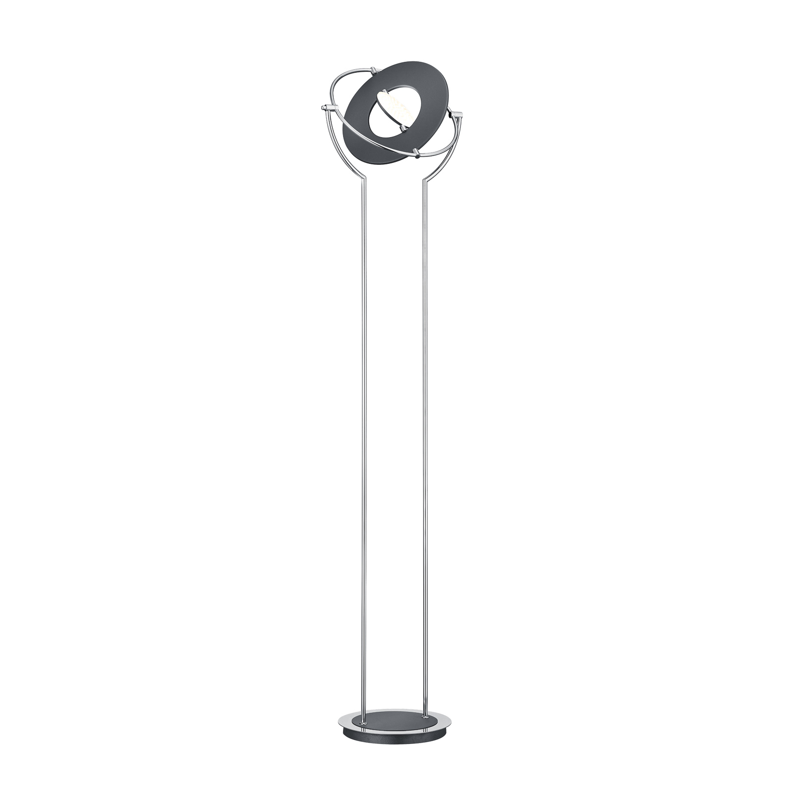 BANKAMP Astoria LED-vloerlamp, ZigBee chroom grijs