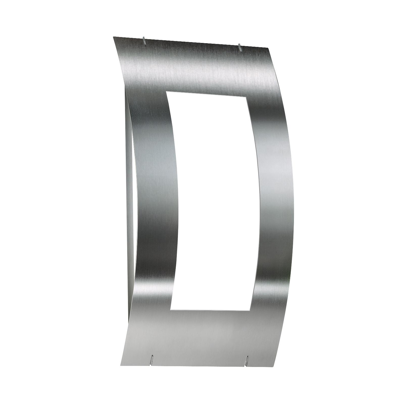 Venkovní nástěnné svítidlo Quadrat nerezový rám