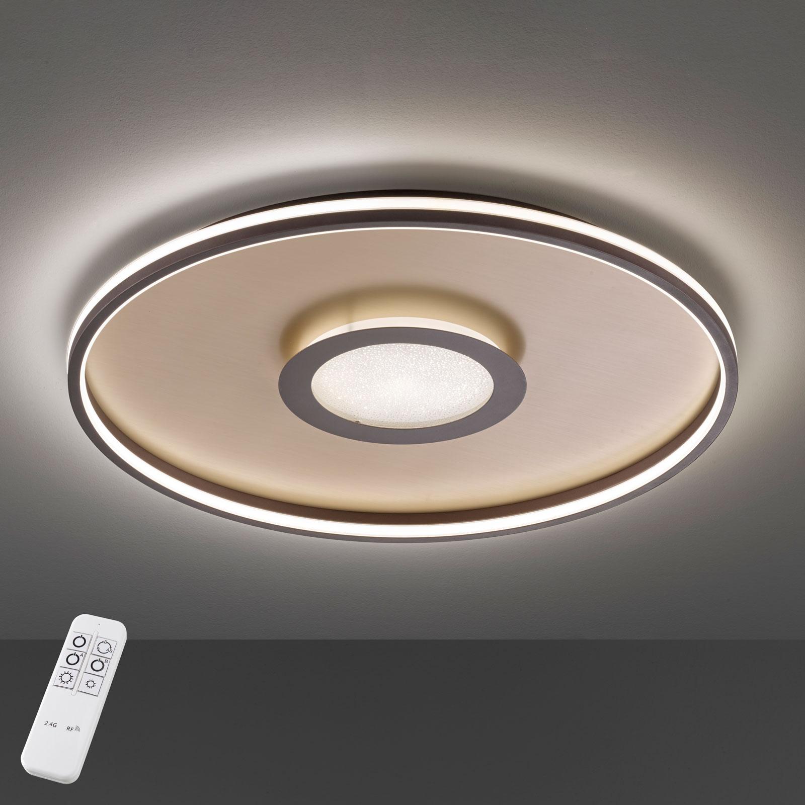LED-Deckenleuchte Bug rund, rost 45cm