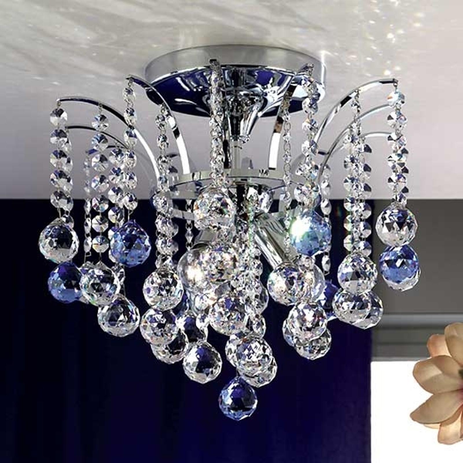Glitrende LENNARDA krystalltaklampe 42 cm