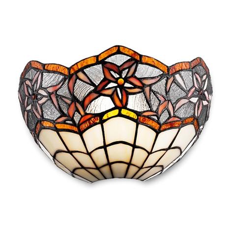 Lámpara de pared Krissy en estilo Tiffany