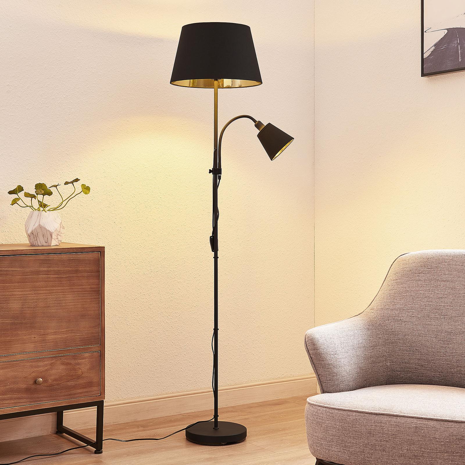 Lindby Somana materiałowa lampa stojąca, klatka