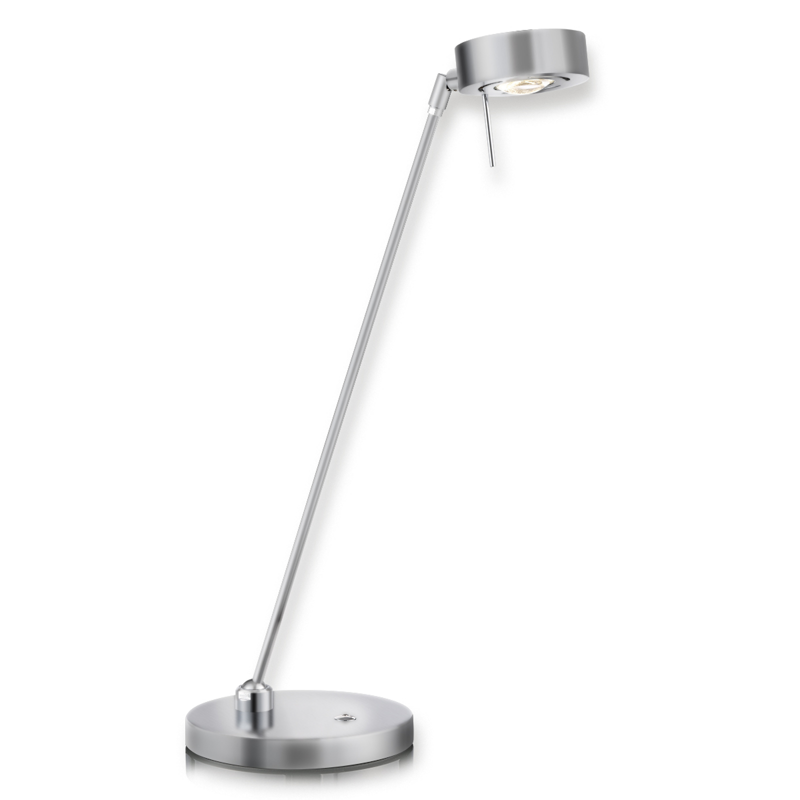 LED-tafellamp Elegance met 2 scharnieren, nikkel