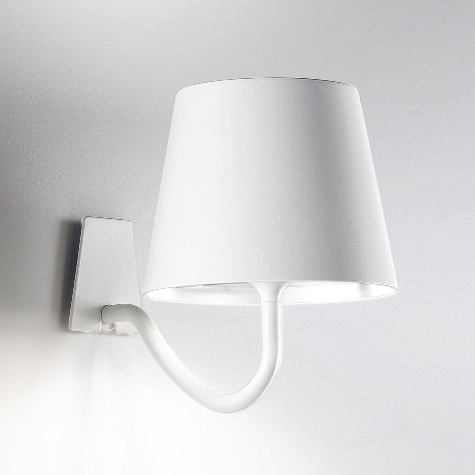 LED wandlamp Poldina dimbaar, met accu, wit