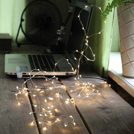 Ghirlanda luminosa LED Dew Drop con USB
