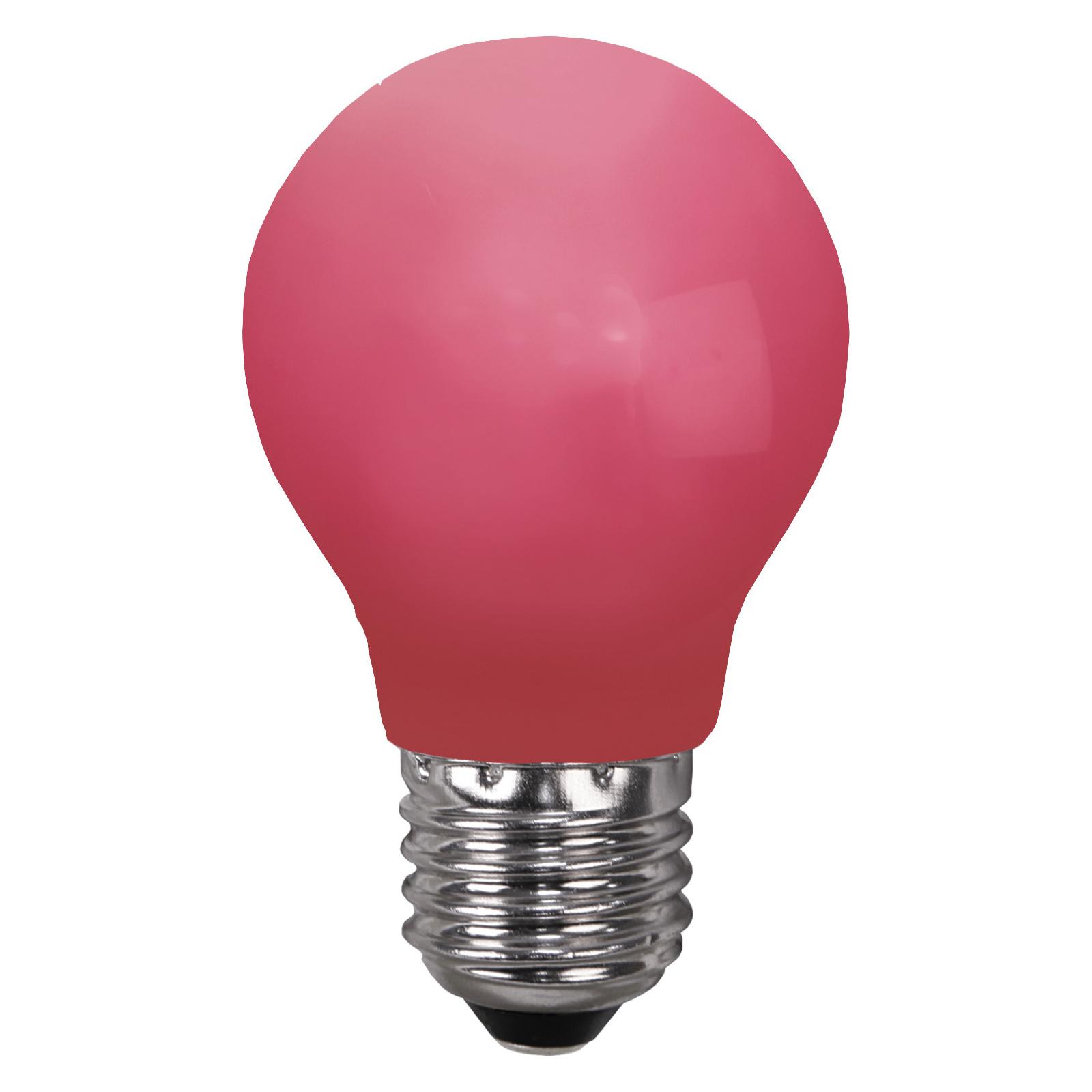 LED-Lampe E27 für Lichterketten, bruchfest, rot
